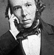 Herbert Spencer, English Polymath Art Print