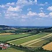 High Angle View Of Fields, Stradbally Art Print