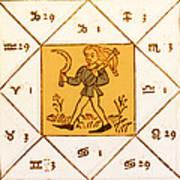 Horoscope Types, Engel, 1488 Art Print