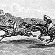 Horse Racing, 1900 Art Print
