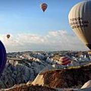 Hot Air Balloons Over Cappadocia Art Print