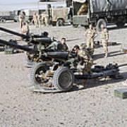 Howitzer 105mm Light Guns Are Lined Art Print