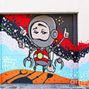 I Want To Go Into Space Man Art Print