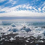 Ice Beach Art Print