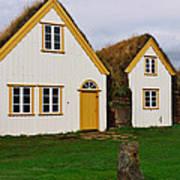 Icelandic Turf Houses Art Print