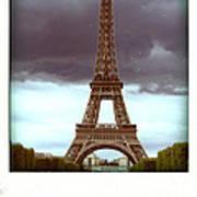Illustration Of Eiffel Tower Art Print