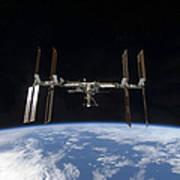 International Space Station Backdropped Art Print