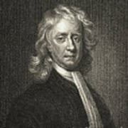 Isaac Newton, English Polymath Art Print