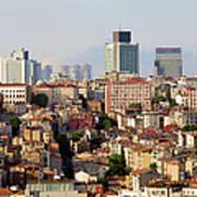 Istanbul Cityscape Art Print