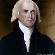 James Madison, 4th American President Art Print by Photo Researchers