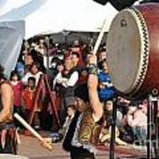 Japanese Drummers Perform In Kaohsiung Taiwan Art Print