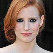 Jessica Chastain At Arrivals For The Art Print by Everett