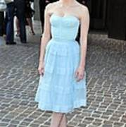 Jessica Chastain Wearing A Christian Art Print