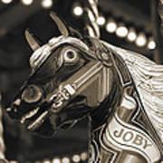 Joby The Carousel Horse Art Print