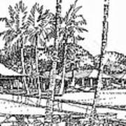 Kukio Estate Art Print