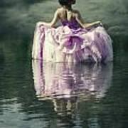 Lady In The Lake Art Print