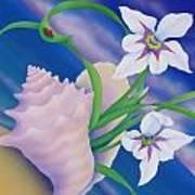 Ladybug And Iris Art Print