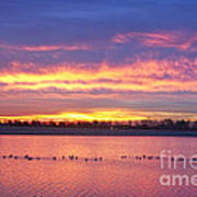 Lagerman Reservoir Sunrise Art Print