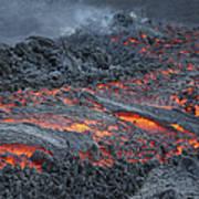 Lava Flow On The Flank Of Pacaya Art Print