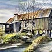 Levy Deas Grist Mill  Sold Art Print