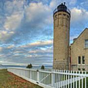 Lighthouse At Mackinac Art Print