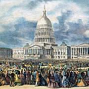 Lincoln Inauguration, 1865 Art Print