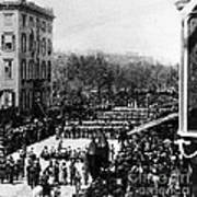 Lincolns Funeral Procession, 1865 Art Print by Photo Researchers