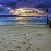 Little Beach Sunset Art Print