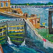 Lock And Dam 19 Art Print by Jame Hayes