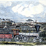 Locomotive Factory, C1855 Art Print