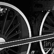 Locomotive Wheels Art Print
