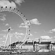 London Eye And County Hall Art Print