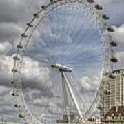London Skyline Edf Eye  Art Print