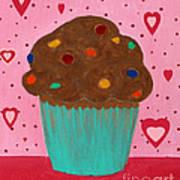 M And M Cupcake Art Print