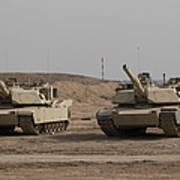 M1 Abrams Tank At Camp Warhorse Art Print