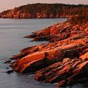 Maine Granite Coast Art Print