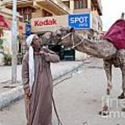 Man With His Camel Art Print