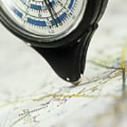Map Wheel Art Print by Steve Horrell