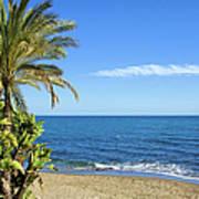 Marbella Beach In Spain Art Print