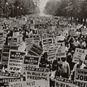 March On Washington. African Americans Art Print