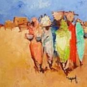 Market Day Art Print by Negoud Dahab