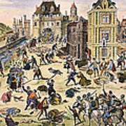 Massacre Of Huguenots Art Print by Granger
