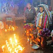 Maximon Ceremony In Guatemala Art Print