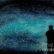 Meditation Under The Stars Art Print by NARI - Mother Earth Spirit