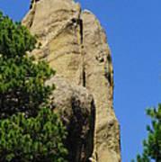 Mica Rock In The Black Hills Art Print