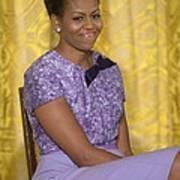 Michelle Obama Wearing An Anne Klein Art Print