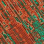 Microchip Circuitry, Sem Art Print by Power And Syred