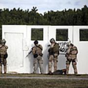 Military Reserve Members Prepare Art Print by Michael Wood