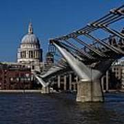 Millenium Bridge And St Pauls Cathedral Art Print