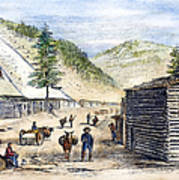 Mining Camp, 1860 Art Print